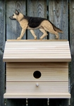German Shepherd Bird House-Tan w/ Black Saddle