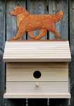 Golden Retriever Bird House-Dark