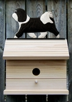 Havanese Bird House-Black/White