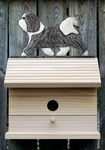 Havanese Bird House-Grey/White
