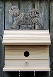 Havanese Bird House-Light Grey