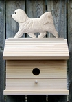 Havanese Bird House-White