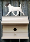 Jack Russell Terrier Bird House-Black/White