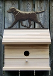 Labrador Retriever Bird House-Black