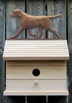 Labrador Retriever Bird House-Chocolate