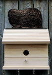 Pekingese Bird House-Black