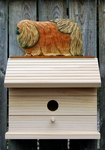 Pekingese Bird House-Red