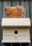 Pekingese Bird House-Sable
