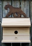 Schnauzer (minature) Bird House-Black