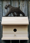 Schnauzer (natural) Bird House-Black