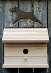Schnauzer (natural) Bird House-Black/Silver