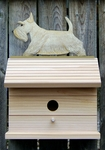 Scottish Terrier Bird House-Wheaten