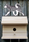 Siberian Husky Bird House-Grey/White