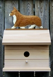 Welsh Corgi (pembroke) Bird House-Red