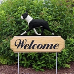 Boston Terrier DIG Welcome Stake-Black
