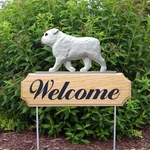 English Bulldog DIG Welcome Stake-White
