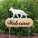German Shepherd DIG Welcome Stake-White