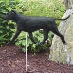 Am. Staffordshire Terrier (natural) Garden Stake-Black