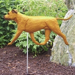 Am. Staffordshire Terrier (natural) Garden Stake-Red