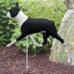Boston Terrier Garden Stake-Black