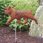 Brussels Griffon (natural)Garden Stake-Red