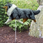 Collie Garden Stake-Blue