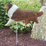 Collie Garden Stake-Sable