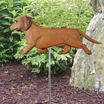 Dachshund (smooth) Garden Stake-Red
