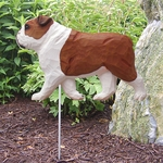 English Bulldog Garden Stake-Red