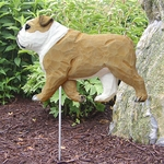 English Bulldog Garden Stake-Tan