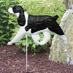 English Springer Spaniel Garden Stake-Black