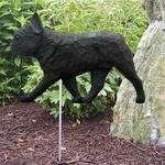 French Bulldog Garden Stake-Black Brindle
