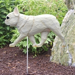 French Bulldog Garden Stake-Cream