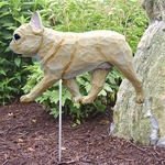 French Bulldog Garden Stake-Fawn