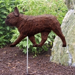 French Bulldog Garden Stake-Red Brindle