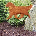 Golden Retriever Garden Stake-Dark