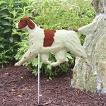 Irish Red and White Setter Garden Stake-Standard
