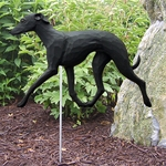 Italian Greyhound Garden Stake-Black