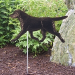 Labrador Retriever Garden Stake-Black