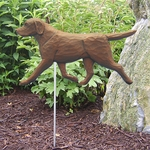 Labrador Retriever Garden Stake-Chocolate