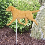 Labrador Retriever Garden Stake-Yellow