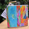 Bright Abstract Art 6 oz flask