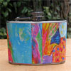 Abstract Art 4 oz Flask - Bright