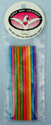 "Super Bird Creations Paper Stick Large 10ct 7"" long"