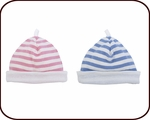Organic Hat (blue or pink stripes)