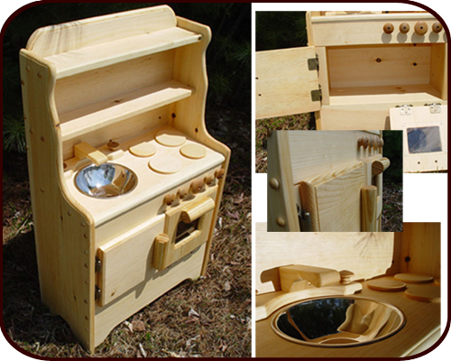 Willow Toys - Liam's Wooden Play Kitchen