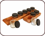 Wooden Paint Holder & 6 Glass Jars