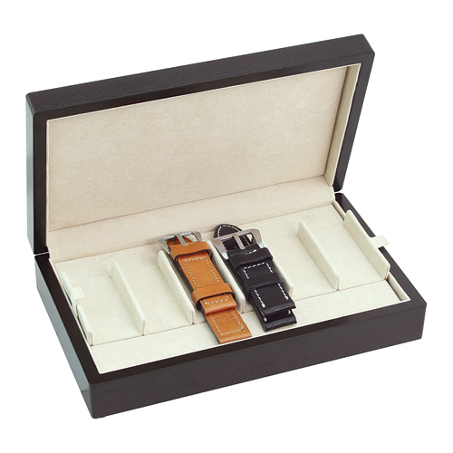 COMPACT WATCH BAND STRAP HOLDER CASE HOLDS 12 WATCH LEATHER BANDS