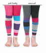 1571 Color Block Footless Tights