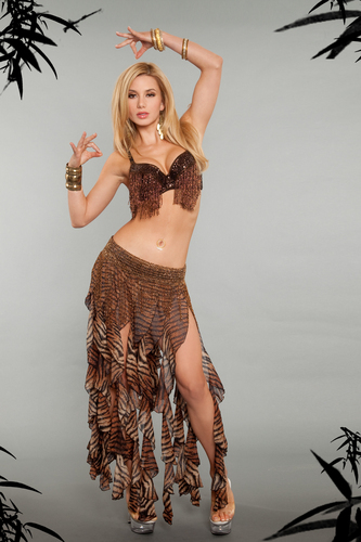 Tribal Safari Belly Dance Costume 4203